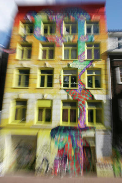 Wall Art - Photograph - 'de Regenboogslang' Painted House by Chris Martin-bahr/science Photo Library