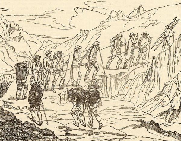 Mont Blanc Wall Art - Photograph - De Saussure's Ascent Of Mont Blanc by Universal History Archive/uig