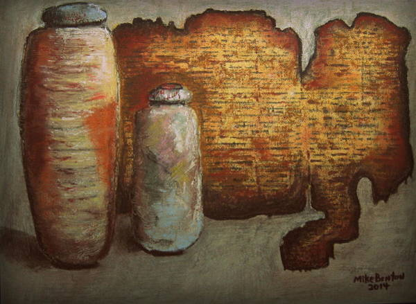 Antiquities Mixed Media - Dead Sea Scrolls by Mike Benton