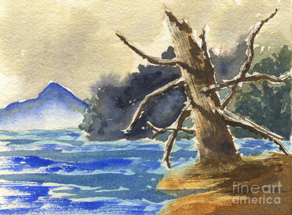 Painting - Dead Tree By The Lake by Beverly Claire Kaiya
