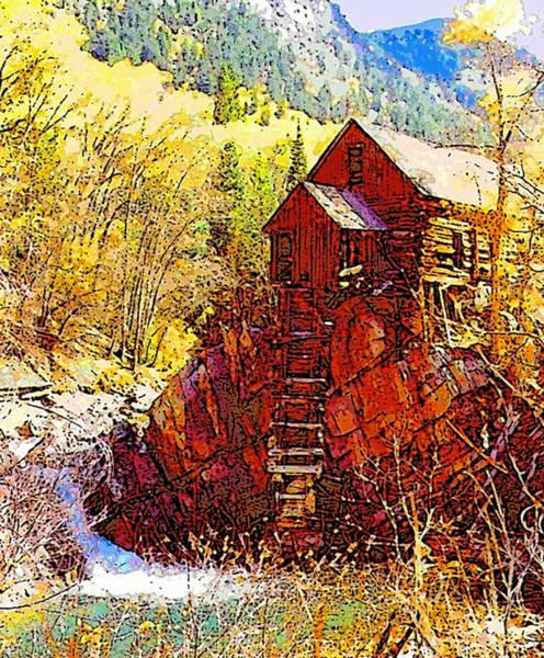 Digital Art - Deadhorse Mill by Dan Miller