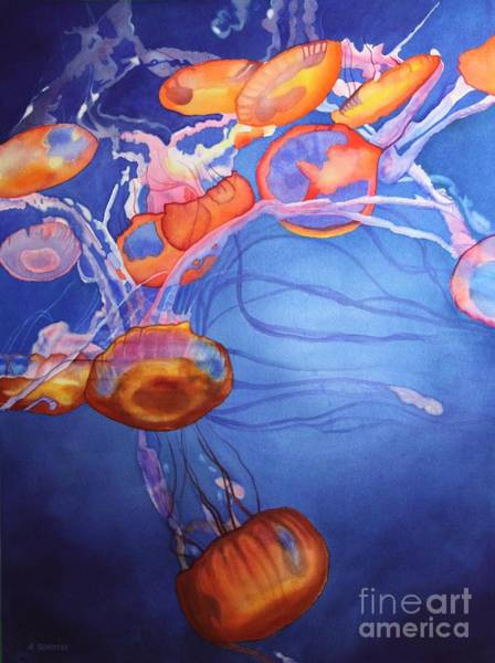 Sealife Painting - Deadly Beauty by Amanda Schuster