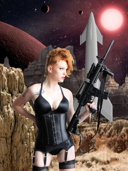 Cosplay Photograph - Deadly Planet by Jon Volden