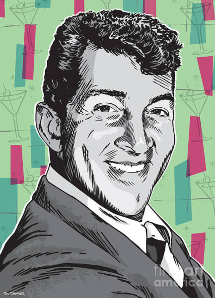 Wall Art - Digital Art - Dean Martin Pop Art by Jim Zahniser