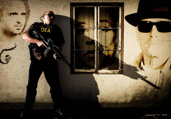 Digital Art - Dean Norris As Hank Schrader  @ Tv Serie Breaking Bad by Gabriel T Toro