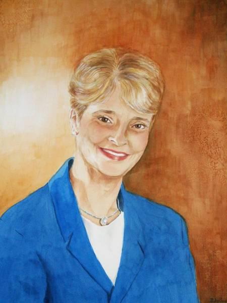 Wall Art - Painting - Dean Of Nursing School Fau by Judy Swerlick