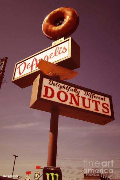 Googie Wall Art - Digital Art - Deangelis Donuts by Jim Zahniser