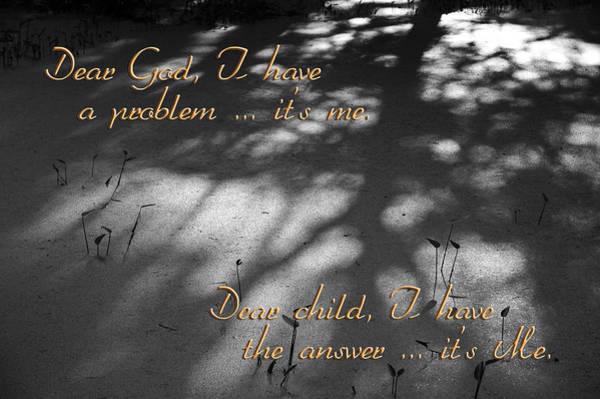 Photograph - Dear God by Carolyn Marshall
