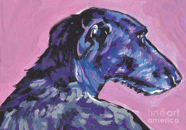 Sighthound Wall Art - Painting - Dear Hound by Lea S
