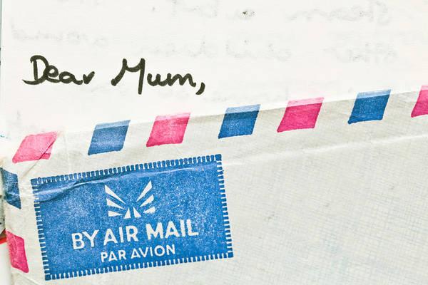 Envelop Wall Art - Photograph - Dear Mum by Tom Gowanlock