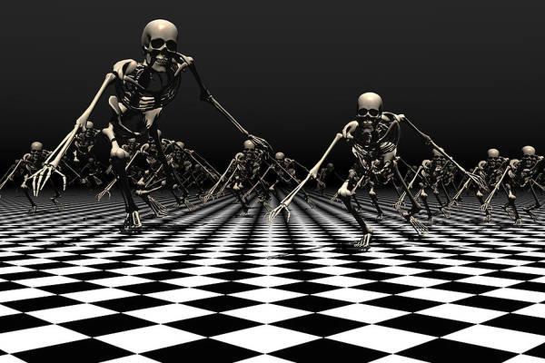 Bryce Digital Art - Death Approaches by Claude McCoy