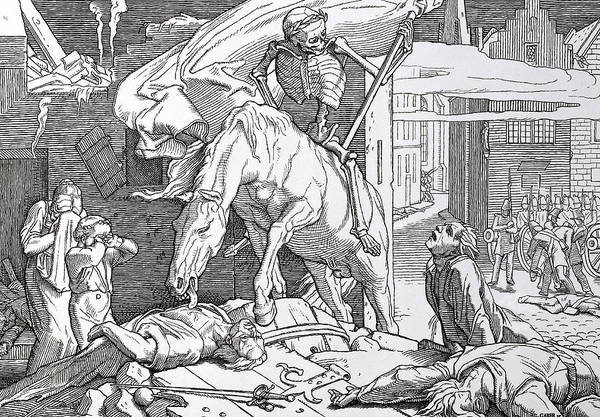 Evil Drawing - Death As Victor by Alfred Rethel