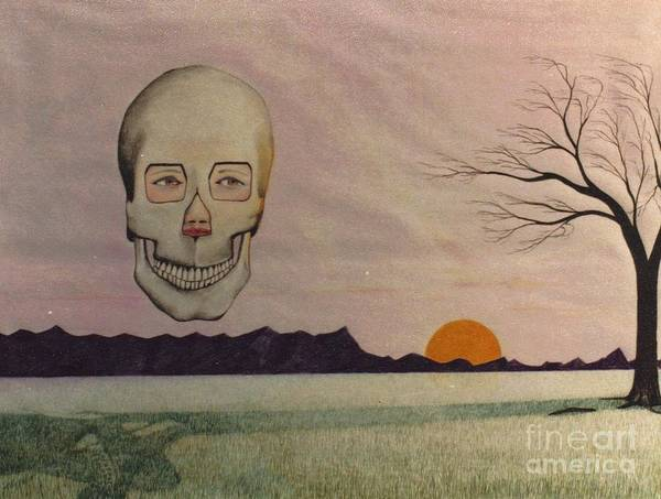 Drawing - Death Mask by David Neace