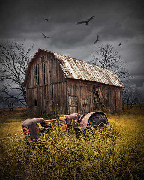 Photograph - Death Of A Small Midwest Farm by Randall Nyhof