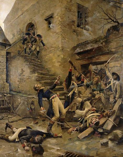 Gunfire Photograph - Death Of General Beaupuy, 1888 Oil On Canvas by Alexandre Bloch