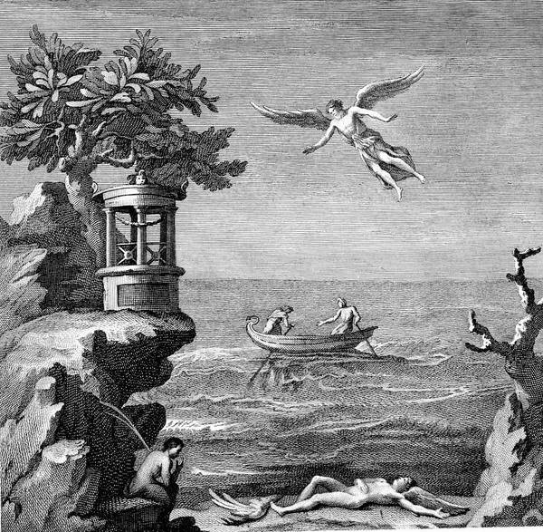 But Photograph - Death Of Icarus by Universal History Archive/uig