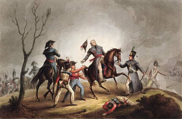 Equestrian Drawing - Death Of Sir John Moore January 17th by William Heath
