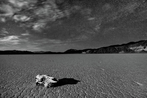 Dry Photograph - Death Valley By Moonlight by Hua Zhu