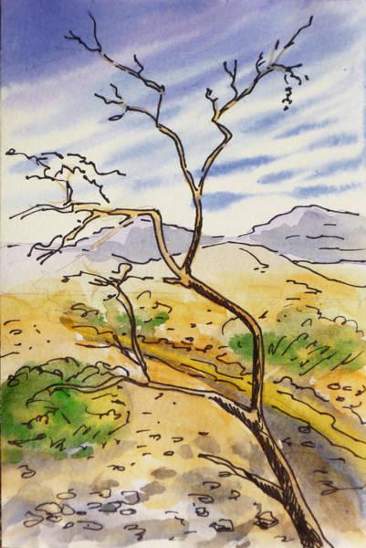 Death Valley Painting - Death Valley- California Sketchbook Project by Irina Sztukowski