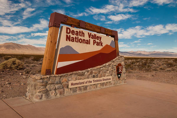 Death Valley Photograph - Death Valley Entry by Steve Gadomski