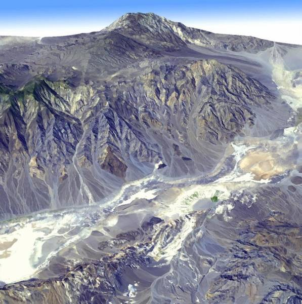 Photograph - Death Valley From Outer Space by Nasa Jpl