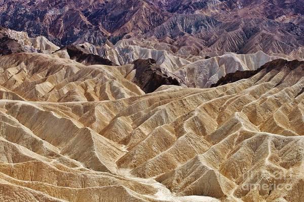 Photograph - Death Valley - Zabriskie Point by Bernard MICHEL