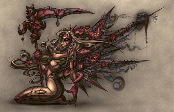Wall Art - Digital Art - Death's Angel by David Bollt
