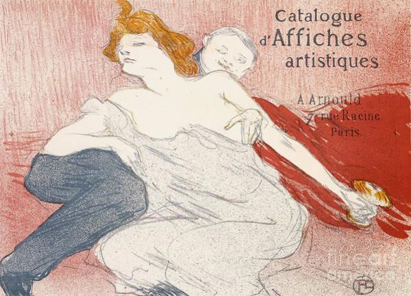 French Wine Painting - Debauche Deuxieme Planche by Henri de Toulouse-Lautrec