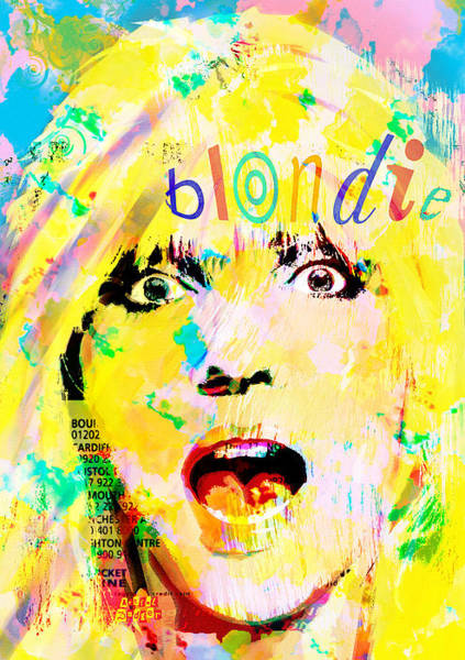 Revolting Digital Art - Debbie Harry Blondie by Neil Finnemore