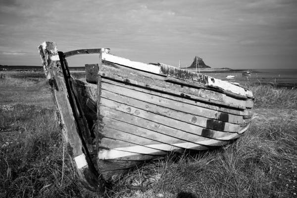 Berwick Upon Tweed Photograph - Debris Of A Boat - Lindisfarne by Gordon Ball