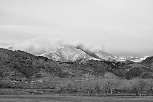 Photograph - December 16th Twin Peak Sunrise Bw View by James BO Insogna