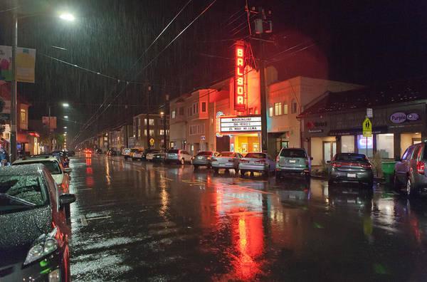 Furon Photograph - Rain Over Balboa Village by Daniel Furon