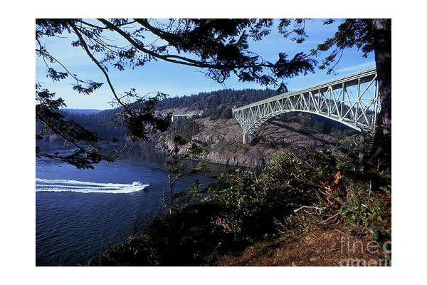 Photograph - Deception Pass Bridge Washington State 1976 by California Views Archives Mr Pat Hathaway Archives