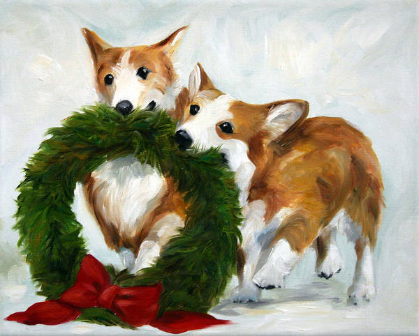 Wall Art - Painting - Deck The Halls by Mary Sparrow