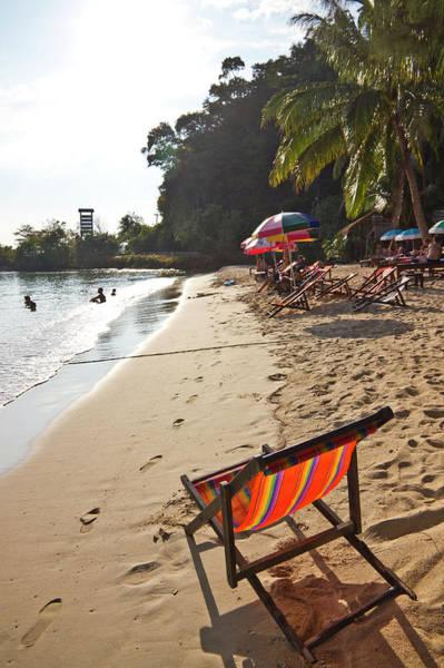 Sunshade Photograph - Deckchairs On Au Bang Bao by Kylie Mclaughlin