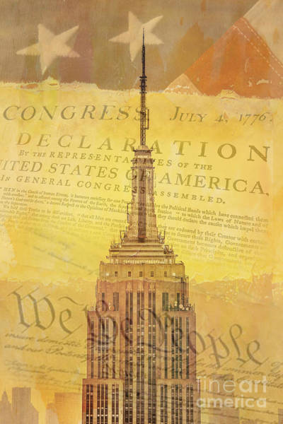 Empire State Building Digital Art - Liberation Nation by Az Jackson