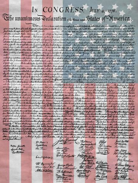 Democrat Mixed Media - Declaration Of Independence by Dan Sproul