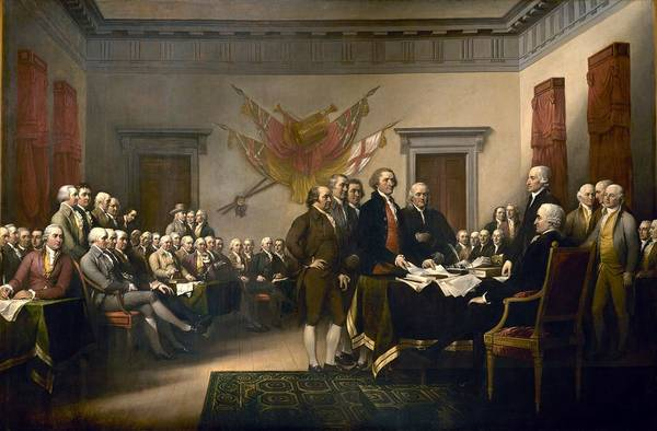 Old Masters Digital Art - Declaration Of Independence by John Trumbull