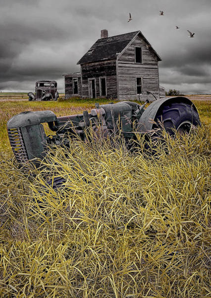 Photograph - Decline Of The Small Farm No 2 by Randall Nyhof