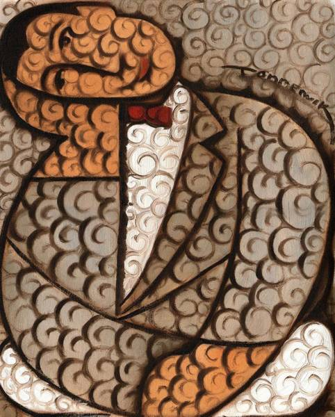 Wall Art - Painting - Deco Abstract Pee Wee Herman Art Print by Tommervik