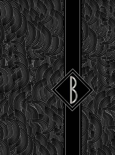 Digital Art - Deco Jazz Swing Monogram ...b by Cecely Bloom