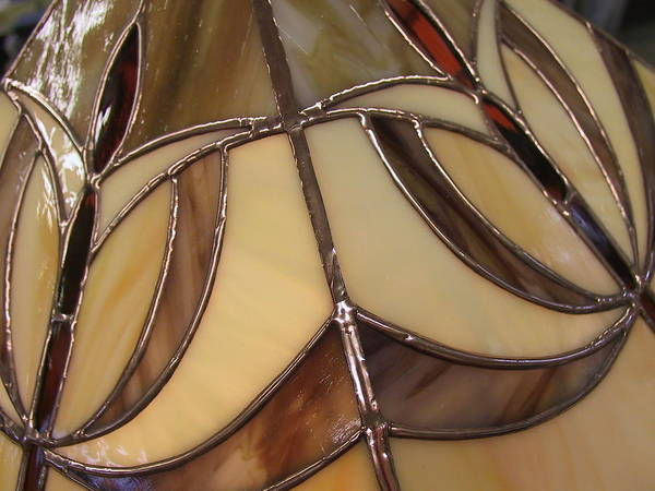 Glass Art - Deco Lampshade by Sherri Anderson