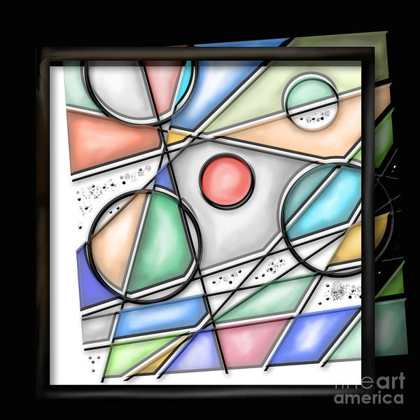 Leaded Glass Painting - Deconstructed Stained Glass  by Kathryn L Novak