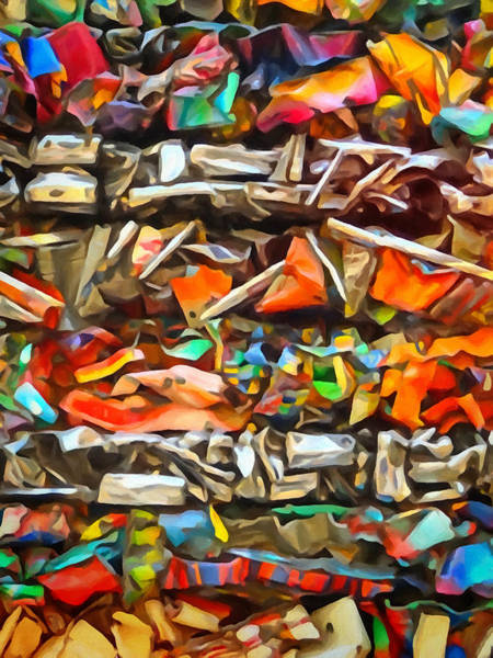 Abstraction Painting - Deconstruction by Lutz Baar