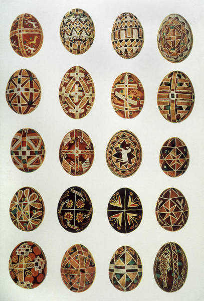 Ukraine Drawing - Decorated Eggs From Ukraine by Mary Evans Picture Library