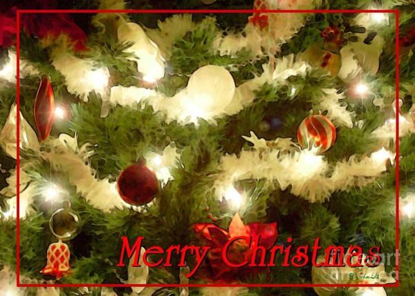 Decorated Tree Christmas Card Art Print