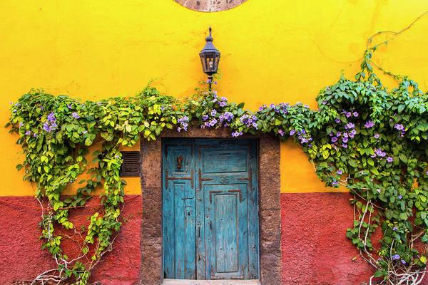 San Miguel De Allende Photograph - Decorative Door Display On The Streets by Chuck Haney
