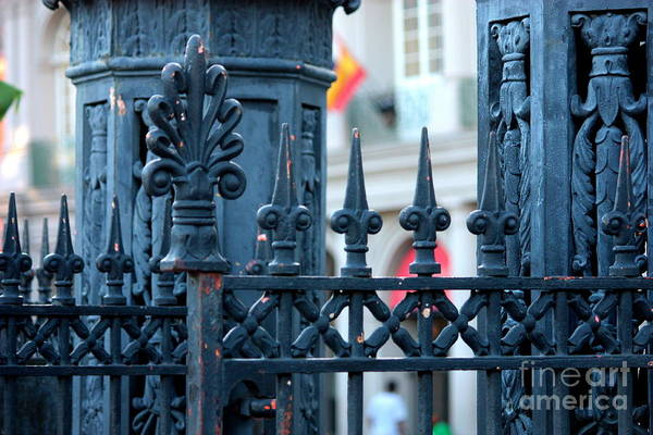 Photograph - Decorative Iron Fence In New Orleans by Carol Groenen