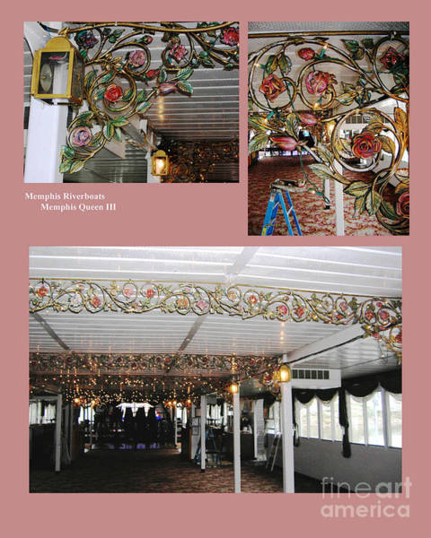 Mixed Media - Memphis Riverboats Decorative Iron Paint by Lizi Beard-Ward