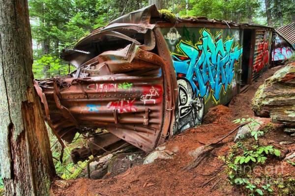 Photograph - Decorative Trainwreck Site by Adam Jewell
